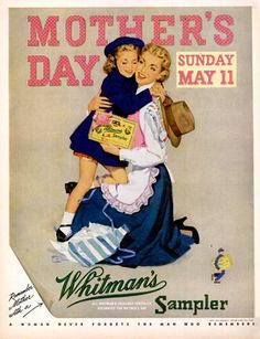 Vintage Whitman's Sampler for Mother's Day PD