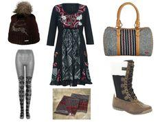 roxy bag helly hansen boots desigual dress viking hat ralph lauren scarf burlington tights