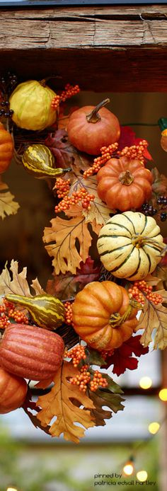 Pottery Barn Faux Pumpkin Gourd Harvest Autumn Fall Thanksgiving Orange Stripe