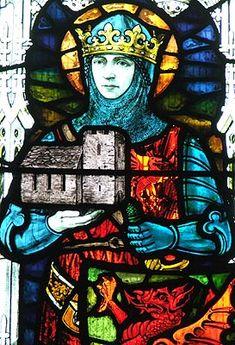 3/29: Saint King Gwynllyw of Gwynllwg (466-523) - Known for being a law unto himself, warrior, bandit, thief, he was converted by his son, Saint Cadog. © Nash Ford Publishing