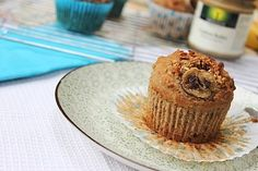For the Banana Nut! - Banana Nut Muffins made with oat and buckwheat flour....dairy and gluten free!