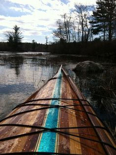 Wood Kayak. LOVE the blue!