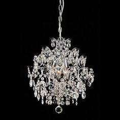 Make your home sparkle with elegance and sophistication by hanging this chrome crystal chandelier. Featuring brilliant crystal ball accents and three lights, this ornate chandelier will make your dining room or foyer look right out of the magazines. Ceiling Chandelier, Pendant Chandelier, Chandelier Pendant Lights, Pendant Light Fixtures, Ceiling Pendant, Modern Chandelier, Ceiling Fixtures, Crystal Pendant, Ceiling Lights