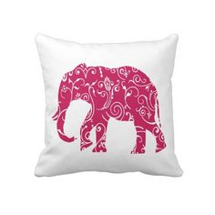 Elegant #Pink & White #Elephant #Throw #Pillow or #Cushion http://www.zazzle.com/pink_and_white_elephant_throw_pillow-189707135223071421?rf=238213022379565456