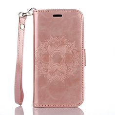 PU+Leather+Material+Datura+Flowers+Pattern+Butterfly+Phone+Case+for+iPhone+7Plus+7+6Plus+6S+6+SE+5s+5+–+AUD+$+12.86