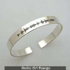 Namensarmbänder - Personalisiertes Schallwelle-Armband / Unisex - ein Ina Froehner - Designerstück von NadinArtDesign bei DaWanda