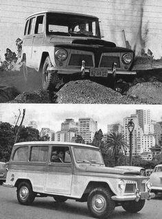 O Jeep novinho em folha no jardim do Centro de Pesquisas da Ford em São Bernardo do Campo O Jeep, um dos mais famosos veículos fora-d... Ford Rural, Bernardo, Offroad, Jeep, Classic Cars, Vintage Advertisements, Wheels, Fall Winter, Vintage Cars