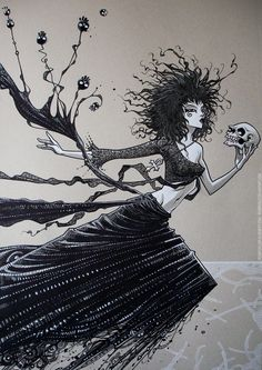 Death/expo FIQ/watercolor/inks by rogercruz.deviantart.com on @deviantART