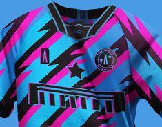 Football 182 - Experimental Concept on Behance Football Shirt Designs, Football Design, Soccer Kits, Football Kits, Sports Jersey Design, Jersey Designs, Textiles, Sports Shirts, Sports Apparel