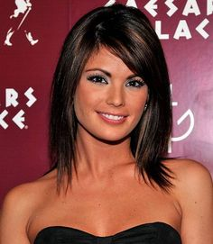 Color..cut?  Shoulder-Length Layered Hair with Bangs | layered Shoulder length haircuts with side bangs for straight hair