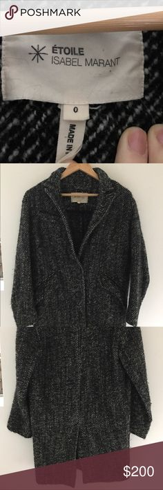 Isabel Marant Size 0 Coat Cozy but not heavy coat, two side pockets and 2 buttons in front. Matches with anything and everything you'd like! Isabel Marant Jackets & Coats
