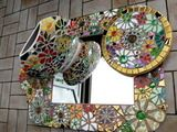 Mosaik - Mosaikspiegel - blütenpracht - ein Designerstück von Mosaika bei DaWanda