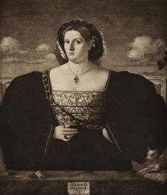Anonimo , Lorenzo Lotto. Portrait of a Venetian Lady - insieme (intersting hat)