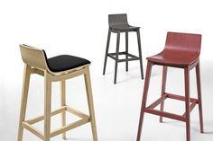 Chaise de bar / contemporaine / en bois EMMA by Paolo Favaretto Infiniti