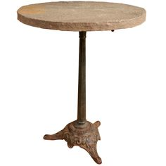 1stdibs | French Circular Bistro Table, Cast iron