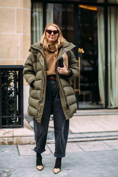 khaki duvet coat