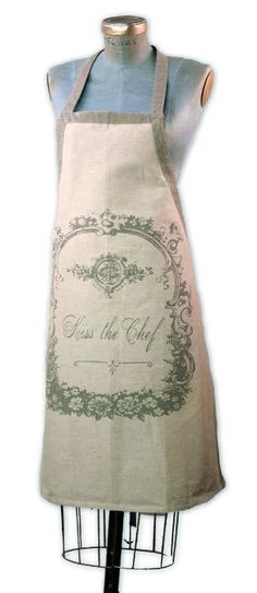 French Style Kiss the Chef Apron