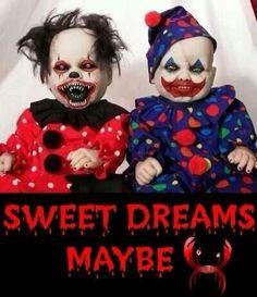 Creepy clown dolls