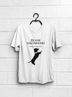 Dachshund Shirt Game of Thrones shirt House by quoteshirt on Etsy