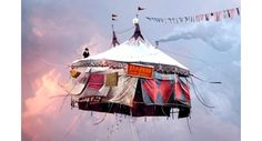 Laurent Chéhère, Flying Houses – Cirque, 2012 © Courtesy of the artist and Galerie Paris-Beijing Concours Photo, Night Circus, Photocollage, French Photographers, Pics Art, Belle Photo, Art Photography, Carnival Photography, Levitation Photography