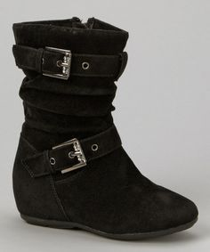 Take a look at this Black Zip-Up Gloria Boot by PINKY FOOTWEAR on #zulily today!