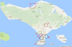 Die interessantesten Aufenthaltsorte auf Bali - von Süden nach Norden
