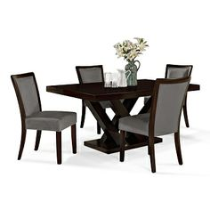 american signature furniture tempest tango dining room 5 pc dinette table 64lx40wx30h value city