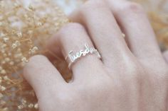 SALE Stackable Name Ring  Personalized Name by MichPersonalized