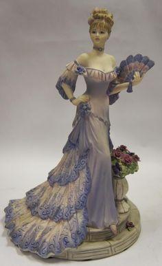 Coalport Lady Figurine Les Parisiennes Madamoiselle Claudette.