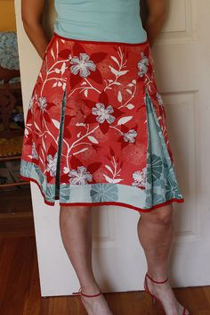 contrasting a line skirt by bookgeekgirl, via Flickr
