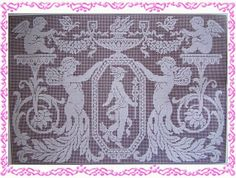 Angels in filet-mesh crochet - 6 pages