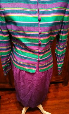 Check out this item in my Etsy shop https://www.etsy.com/listing/460320218/adrianna-papell-suit-100-silk-suit