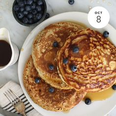 Favorite Oatmeal Pancakes  INGREDIENTS: Pancakes: • 1 1⁄4 Cups all-purpose flour • 1⁄2 Cup Quaker® Oats (quick or old fashioned, uncooked) Buy Now • 2 Teaspoons baking powder • 1⁄4 Teaspoon salt (optional) • 1 1⁄4 Cups fat-free milk • 1 Egg, lightly...