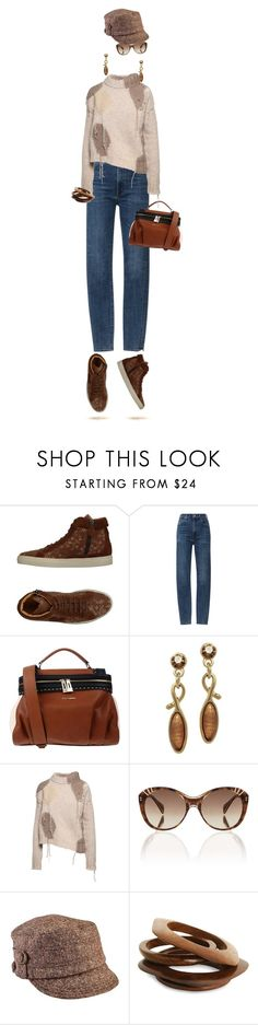 """""""Shopping Day"""" by sharonbeach ❤ liked on Polyvore featuring Twin-Set, Citizens of Humanity, Acne Studios, Alexander McQueen, San Diego Hat Co., Spring Street and jeansandsneakers"""