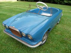Rare Tri-ang Jaguar Mk.x Pedal Car. To see more pictures of this pedal car visit Chasing Pedal Cars Facebook Page.