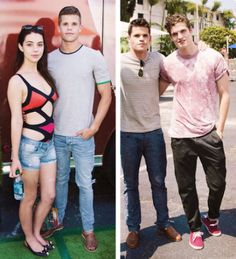 The Carver brothers with Adelaide Kane and Daniel Sharman <3