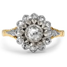 14K Yellow Gold, Sterling Silver The Jeanmarie Ring from Brilliant Earth