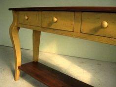 Rustic 3 Drawer Hunt Board In Marigold Color,
