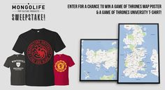 Enter our competition to get the chance to WIN a Game of Thrones map and t-shirt combo!
