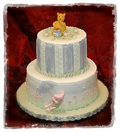Stacey's Sweet Shop - Truly Custom Cakery, LLC: Classic Pooh Baby Shower Cake