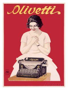 Olivetti Office Typewriter Impressão giclée na AllPosters.com.br