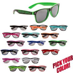 Personalized Caribbean Classic SunglassesGloss Solid Color FramesIconic all-time UV Protective LensesAvailable in a full array of fun-loving frame colors.Size: One size fits most.Your price includes a one-color imprint on one temple. Pms Colour, One Color, Free Artwork, Athletic Events, Fun Loving, Classic Style, Caribbean, Temple, Sunglasses
