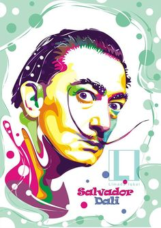 Vector Portrait of Salvador Dali by Limada Iqbal  #salvador #dali #popart #vector #art #popularperson #painter #painting #graphic #design #salvadordali #new #picoftheday #pinterest