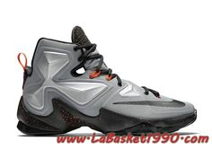 new product 2b0c4 72632 Nike Lebron 13 Metallic Silver 807219-003 Chaussures Nike Basket Pas Cher  Pour Homme Gris