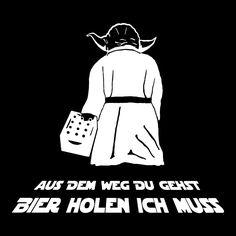 """Nukular T-Shirt """"Aus dem Weg Du gehst / Bier holen ich muss"""" für alle Party-liebenden Sci-Fi-Fans: AmazonSmile: Bekleidung"""