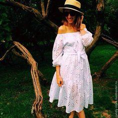 Платья ручной работы. Ярмарка Мастеров - ручная работа. Купить Платье из шитья. Handmade. Белый, платье летнее, красивое платье