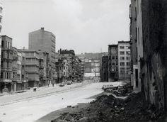 Yapım çalışmaları sırasında Tarlabaşı Bulvarı, İstanbul, 1988 IFEA Fotoğraf Arşivi