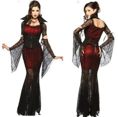 "LIP SERVICE Costume Vault ""Midnight Vamp"" long dress #25-6-02"