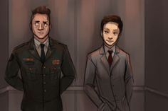 Kepler and Cutter. Man, this is awesome fan art. Cutter is perfect
