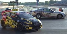 Tanner Foust Races Against the Ford Mustang Cobra Jet in His Fiesta Rally Car Mustang Cobra Jet, Ford Mustang, Ford News, Car Ford, Ford Motor Company, Rally Car, Drag Racing, Fast Cars, Toyota